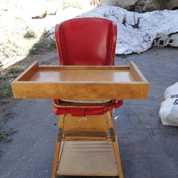 Vintage High Chair- Found Under House - Furniture