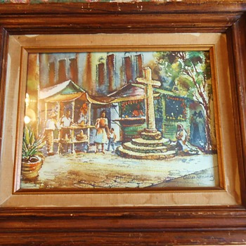 Watercolor by Caesar Hernandez,  from thrift store $6.50