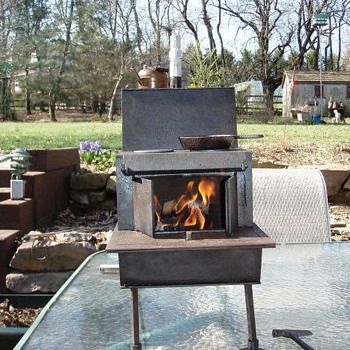 miniature wood fired cook stove