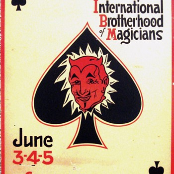 "Original ""International Brotherhood of Magicians"" Ring Convention Window Card - Posters and Prints"