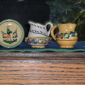 Decorative Unknown European Art Pottery Pieces   - Pottery