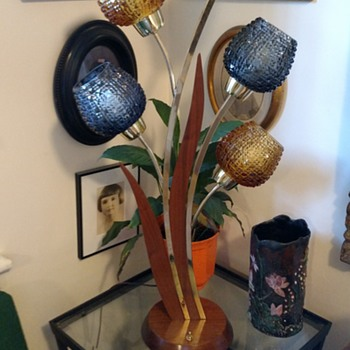 Restored Laurel Cattail Lamp