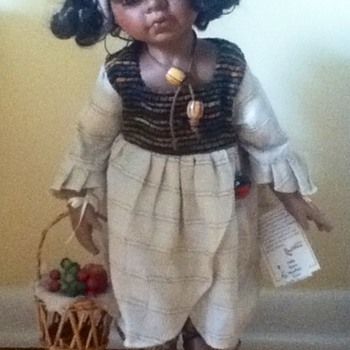 Fruit-Gatherer Porcelain Doll