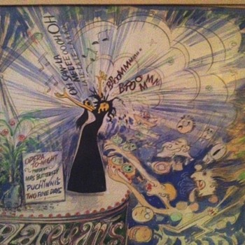 Theatre Art  caricature.  - Visual Art
