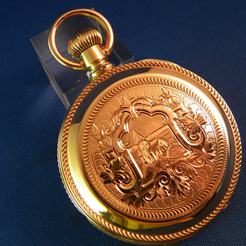 Waltham 14K Gold Huntingcase Pocket Watch