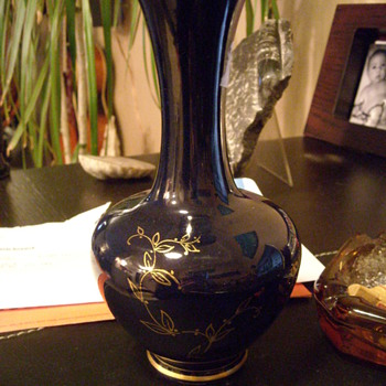 Colbalt Blue/Gold Jasba Vase - Art Pottery
