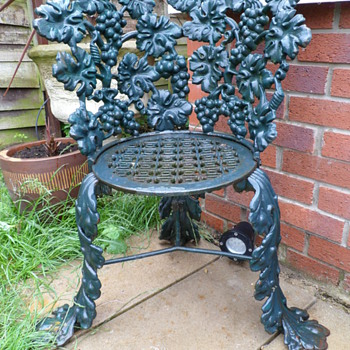 Grape Vine Cast Chair - Furniture