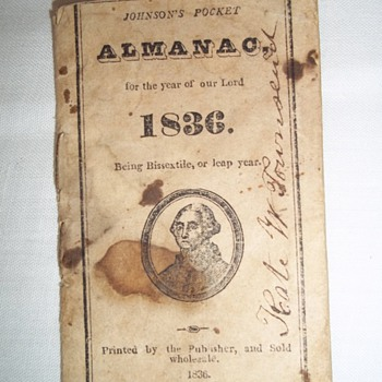 1836 Pocket Almanac - Books