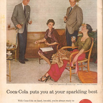 1956 - Coca Cola Advertisement - Advertising