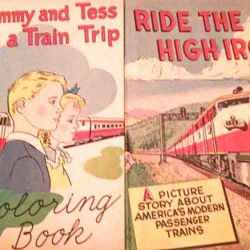Railroad color books 1950s,1960s