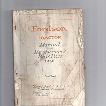 1900's OR1930's TRACTORS MANUALS