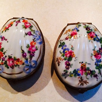 Antique French Hand Painted Trinket Boxes - Furniture