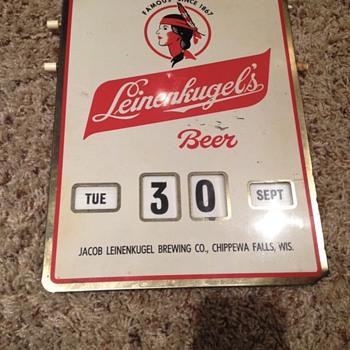 Leinenkugel's Calendar Sign - Breweriana