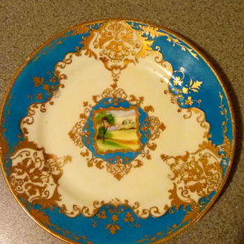 Noritake plate not sure of age or pattern but very nice piece with a picture in the centre