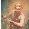 Frank Reynolds (British, 1876-1953) Art Nouveau Watercolor 1905