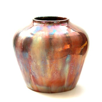 rare leon elchinger lustre pottery vase circa 1920