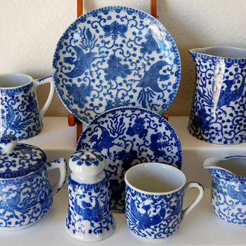 Blue & white Phoenix pattern china from Japan - China and Dinnerware