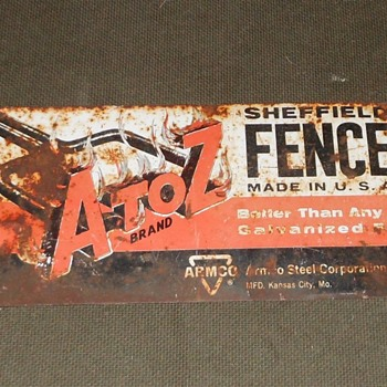 A to Z Brand Sheffield Fence Sign - Signs