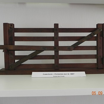 PATENT MODEL LEVER OPERATED FENCE GATE - Advertising