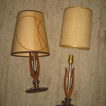 Danish Modern -Wish-Bone style lamps