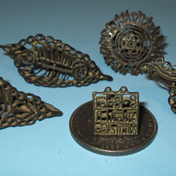 "18th Century Bronze Henna ""Tatoo"" Stamps"