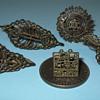 """18th Century Bronze Henna """"Tatoo"""" Stamps"""