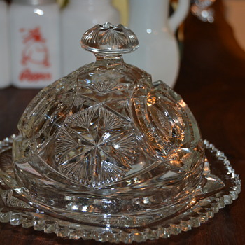 Butter dish and Sugar bowl - Glassware