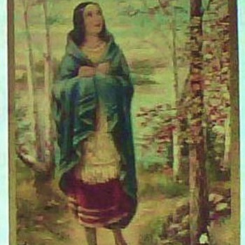 1927 Prayer Card of 1st Native American Saint/Kateri Tekakwitha - Native American