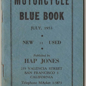 Motorcycle Blue Books 1953, 1954, 1955