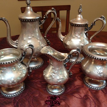 Grandma's Tea Set - Various Roger's Smith and Co. labels - Sterling Silver