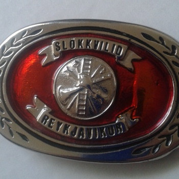 slokkvilid reykjavikur. belt Buckle - Firefighting