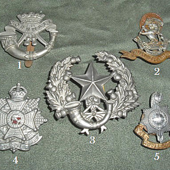 Badges for all 1914 British Line Infantry Regiments, Part 4