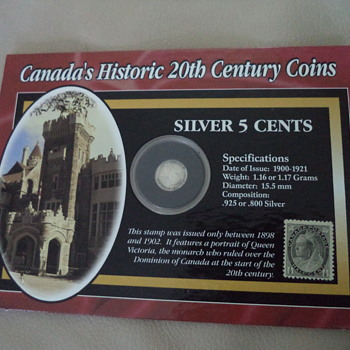 Canada's Hictoric 20th Century Coins, 1917 - World Coins