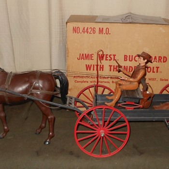 Jamie West Buckboard and Thunderbolt Set Mail Order Set