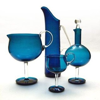 HARLEKIINI set, Nanny Still (Riihimki Lasi, 1959) - Art Glass