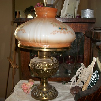 Brass electrified Oil Lamp - Lamps