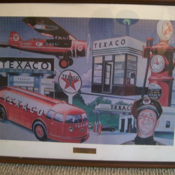 "Texaco ""Period Winner"" ""Building Tomorrow Together"" Lithogaphs - Petroliana"