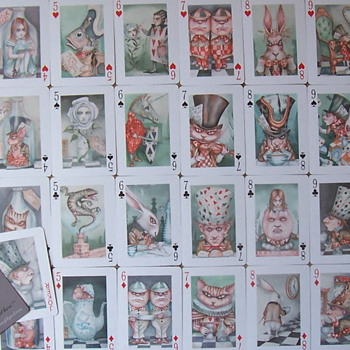 Alice in Wonderland playing cards by Dominic Murphy-