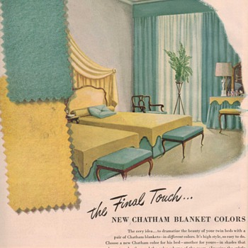 1950 Chatham Blankets Advertisement - Advertising