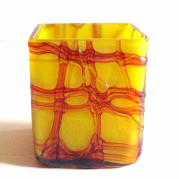 KRALIK? OPEN SALT, IN A RARE GLASS COLOR. - Art Glass
