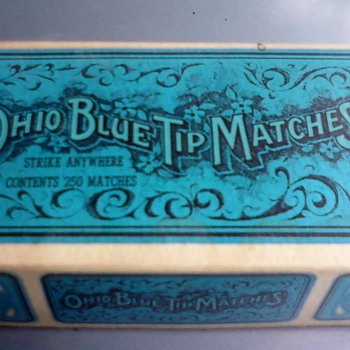 Old Ohio Blue Tip Matches - Tobacciana