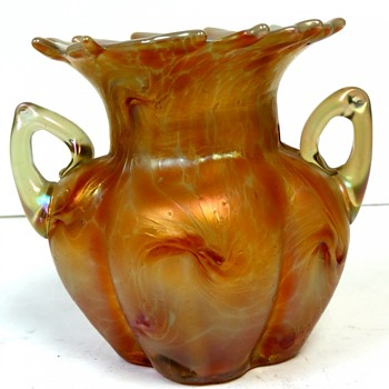 Pallme-König Vase with handles - Art Glass