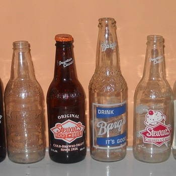 Assorted cola bottles