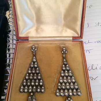 Fortnum & Mason Art Deco Dangle Earrings - Art Deco