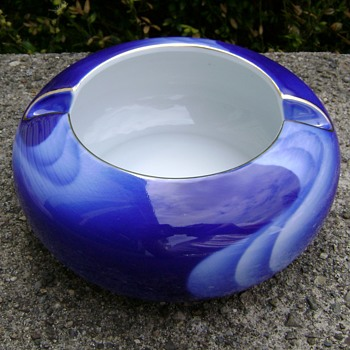 Vintage 1960's Fukagawa Wave Bowl Ashtray