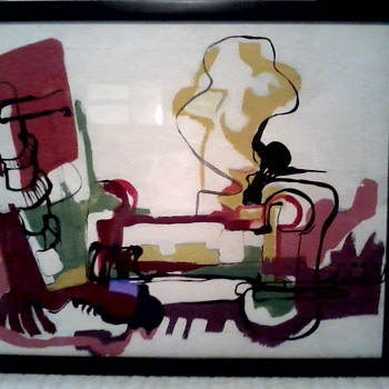 """Abstract"" oil on canvas / Signed ""Coleman"" - Visual Art"