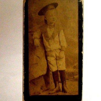 RARE, MINI CDV PHOTO CARD JUST less than 1& 1/2 X 2 & 3/4  C. 1880s Full photo OF LITTLE BOY