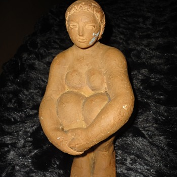 Unfinish Sculpture Seated Woman - Visual Art