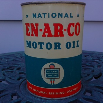 En-Ar-Co Motor Oil Can - Petroliana