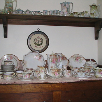Several of our chocolate sets and  pots. - China and Dinnerware